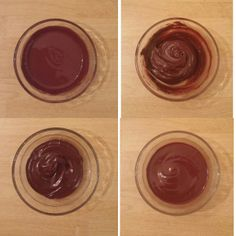 Adding various amounts of water to chocolate