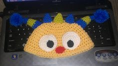Ravelry: Henry Hugglemonster inspired toddler hat with optional earflaps pattern by Puppy Love Creations