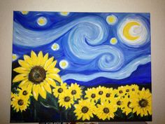Custom Hand Painted on 16x20 Canvas  Van Gogh Inspired  by ODsGirl, $50.00