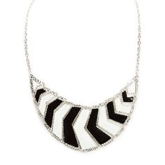 Carole Juniors Chevron Frontal Necklace #VonMaur #BlackandWhite