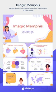 Download and personalize this Imagic Memphis presentation. Get it as Google Slides theme or PowerPoint template.   #Slidesgo #FreepikCompany #freepresentation #freetemplate #presentations #themes #templates #GoogleSlides #PowerPoint #GoogleSlidesThemes #PowerPointTemplate #Memphis #Creative #Illustration Cute Powerpoint Templates, Free Powerpoint Presentations, Powerpoint Slide Designs, Powerpoint Themes, Ppt Template Design, Infographic Powerpoint, Presentation Slides Design, Presentation Layout, Powerpoint Background Design