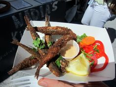 """Smorgasburg Brooklyn: fried anchovies, """"Jersey style"""" from @BonChovie"""