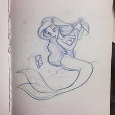 Cute sketch little mermaid drawings, little mermaid tattoos, little mermaid art, mermaid sketch Little Mermaid Drawings, Little Mermaid Tattoos, Little Mermaid Art, Mermaid Sketch, Cute Sketches, Disney Sketches, Disney Drawings, Cartoon Drawings, Drawing Sketches