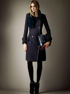 Cara Delevingne for Burberry Pre-Fall 2012 Collection.