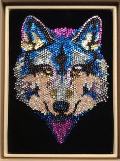 Sequin Art wolf