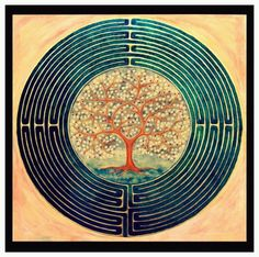 the tree of life Labyrinth Garden, Labyrinth Maze, Labyrinth Tattoo, Animal Reiki, Labrynth, Life Symbol, Photos Voyages, Ancient Symbols, Land Art