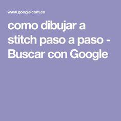 como dibujar a stitch paso a paso - Buscar con Google