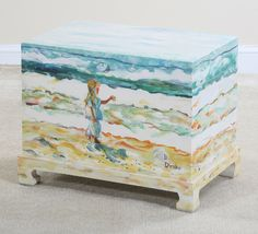 Coastal Decorative Painted Accent Tables | Email This Page To A Friend
