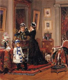 Can they go, too! by Edward Lamson Henry. #classic #art #painting