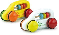 Abacus Cars, Yellow and White #2304Y #2304W #magicforesttoys #vilac