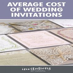 Awesome 9+ Average Cost For Wedding Invites Check More At  Http://jharlowweddingplanning