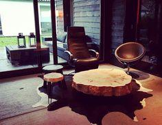"""""""Design by nature, made by us""""  Treesign😉 ambachtelijk, verantwoordelijk en met passie gemaakt!  Vind de meest bijzondere boomstamtafels in onze winkel in Tilburg of in de webshop  Www.CreativeOpen.nl/shop"""