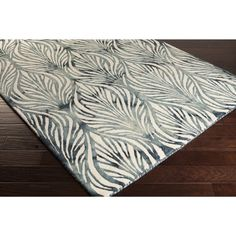 Hand-Tufted Oldham Floral Pattern Wool Rug (8' x 10')