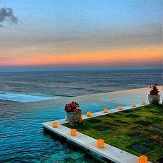 amazing sunset @ semara luxury villa resort in uluwatu , bali