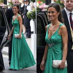 Pippa Middleton Makes a Glamorous Statement in Temperley London Dress Alexander Mcqueen Kleider, Alexander Mcqueen Dresses, Emerald Green Gown, Emerald Dresses, Pippa Middleton Photos, Middleton Family, Temperley London Dress, Look Thinner, Women's Fashion Dresses