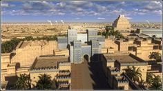 Gorgeous 3D animations showcase the ancient city of Babylon (in Mesopotamia) in its architectural peak in 6th century BC.