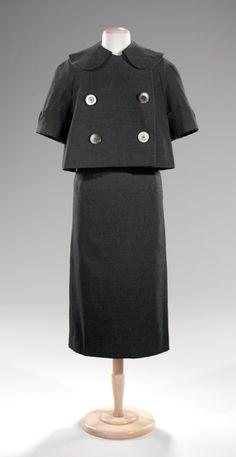Norman Norell suit ca. 1954 via The Costume Institute of the Metropolitan Museum of Art