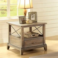Riverside Furniture – Windhaven X-End Table