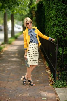 blazer (Piperlime-Tinley Road), blouse (GAP), skirt (Jcrew adorable option HERE), shoes (Seychelles ON SALE), ring (Kendra Scott, Voce on Clay), iPad cover (Jcrew), watch (Cartier), bracelets (Jcrew), shades (Chanel), ring (Lagos)