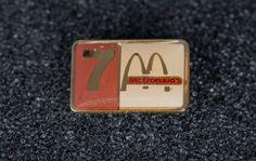Mcdonald's 7 Years Vintage Enamel Tack Pin by ImpressionsofthePast