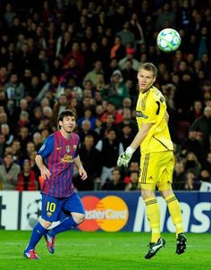 Messi the Greatest! First player to score five goals in a Champions League match. FIVE goals! Amazing.