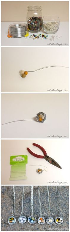 diy birdnest pendants would be cute in garden on recycled items