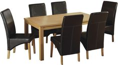 Belgravia Dining Set with Espresso Brown PU Chairs Oak Dining Sets, Cheap Furniture, Dining Chairs, Brown, Table, Dublin, Cork, Irish, Design