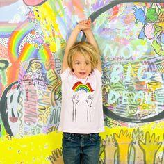 Dallas Clayton   Reach Rainbows Kids Tee   Dallas Clayton   Official Merchandise   WEO