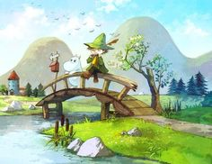 Bridge cartoon illustration via www.Facebook.com/GleamOfDreams