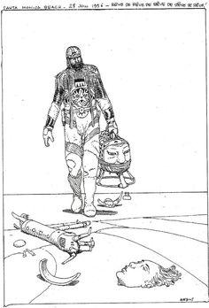 Moebius - Sketchbook - Santa Monica Beach - June 28th, 1996