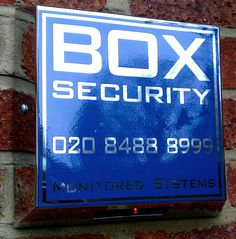 BOX Box. High end stainless-steel security alarm box from BOX Security, standard fit for all BOX security alarm installations.