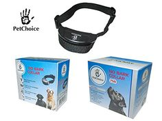 PetChoice No Bark Collar - Anti Bark Collar with 7 Different Correction Levels - Combination of Varying Intensities of Warning Tones and Shocks - Adjustable Might Bark Collar. Small-Big Dogs -- See this awesome image @