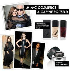 MAC Cosmetics & Carine Roitfeld #Collaboration: http://www.poshglam.com/mac-carine-roitfeld-violating-codes-of-bourgeois-elegance/