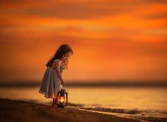 ♥ - girl, abstract, photography, lantern