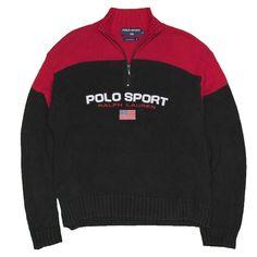 a59b9a7636d Polo Sport Ralph Lauren Men s Sweater XL Vintage 1 4 Zip Turtleneck Color  Block