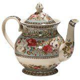 Aqua Floral Teapot   http://www.stashtea.com/