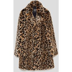 FAUX FUR LEOPARD PRINT COAT - NEW IN-WOMAN   ZARA United States (€125) ❤ liked on Polyvore featuring outerwear, coats, leopard print coats, leopard coat, imitation fur coats, faux fur coat and brown coat