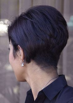 Stacked and Tapered  - Super Short Bob hair