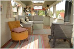 The Majestic Bus - Converted Bedford Panorama Bus.  I wish ours could be this open!  Gorgeous bus conversion :)