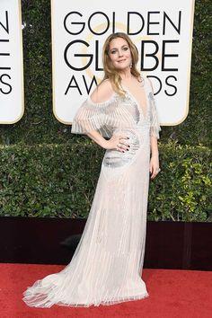 Drew Barrymore in Monique Lhuillier - Golden Globes 2017