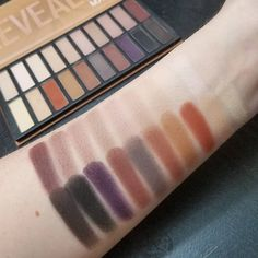 Swatches of the Coastal Scents Revealed Matte palette. Looks like there are dupes for the Urban Decay Naked Ultimate Basics palette!
