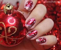 Easy but joyful christmas nails art ideas you will totally love 03