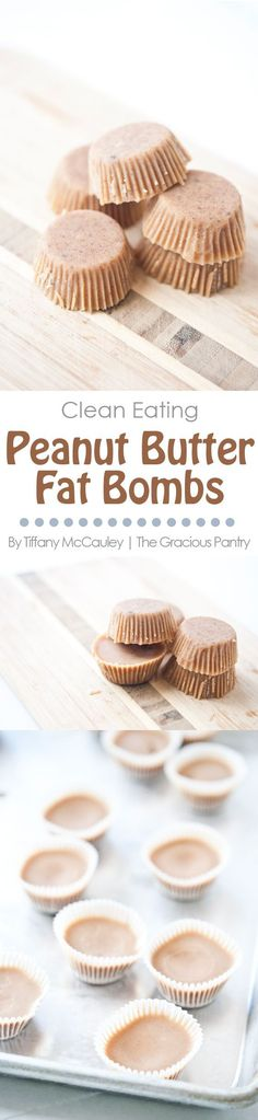 Clean Eating Recipes | Clean Eating Fat Bombs | Peanut Butter Fat Bombs | Fat Bomb Recipes ~ https://www.thegraciouspantry.com