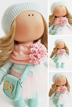 Tilda doll Handmade doll Bonita doll Fabric doll Puppen Interior doll Textile doll Green doll Cloth doll Baby doll Nursery doll by Tanya E