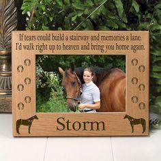 Quarter Horse Memorial Horse Frame