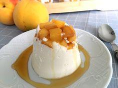 Post: Flan de yogur con melocotón de Calanda --> Flan de yogur, melocotón de Calanda, postres con fruta, postres de yogur, postres en vasito, postres fáciles, postres individuales, postres rápidos, postres recetas delikatissen