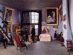 The Studio on the Rue La Condamine (Jean Frederic Bazille - 1870)
