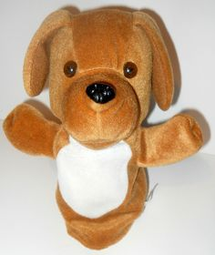 """Brown Dog Hand Puppet,10"""" Long. Child's Imagination Learning Toy #DogHandPuppet #HighReachLearning"""