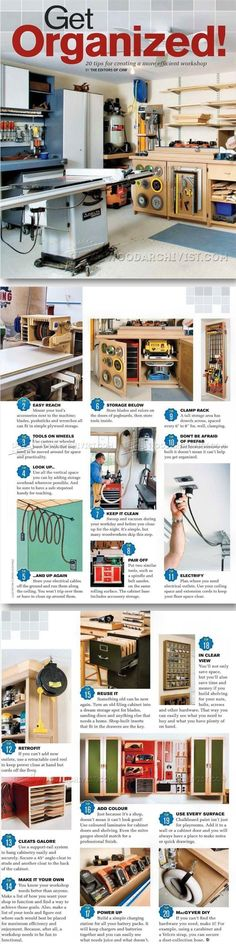20 Tips for Creating a More Efficient  - Workshop Solutions Projects, Tips and Tricks   WoodArchivist.com #WoodworkingBusiness
