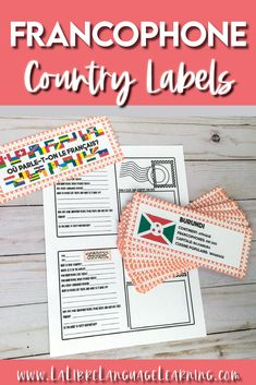 Francophone Countries Bulletin Board Labels and Cultural Webquest Activities French Classroom Decor, Classroom Setting, Classroom Setup, Future Classroom, High School Activities, Teaching Activities, Culture Activities, Teaching Ideas, French Teacher